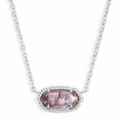 Elisa Necklace - Silver Amethyst