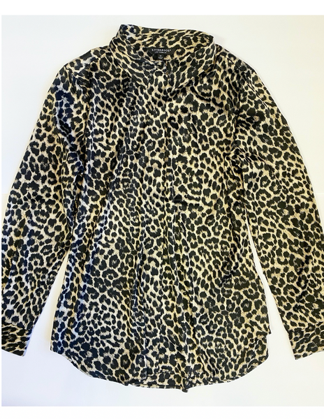Placket Top - Leopard