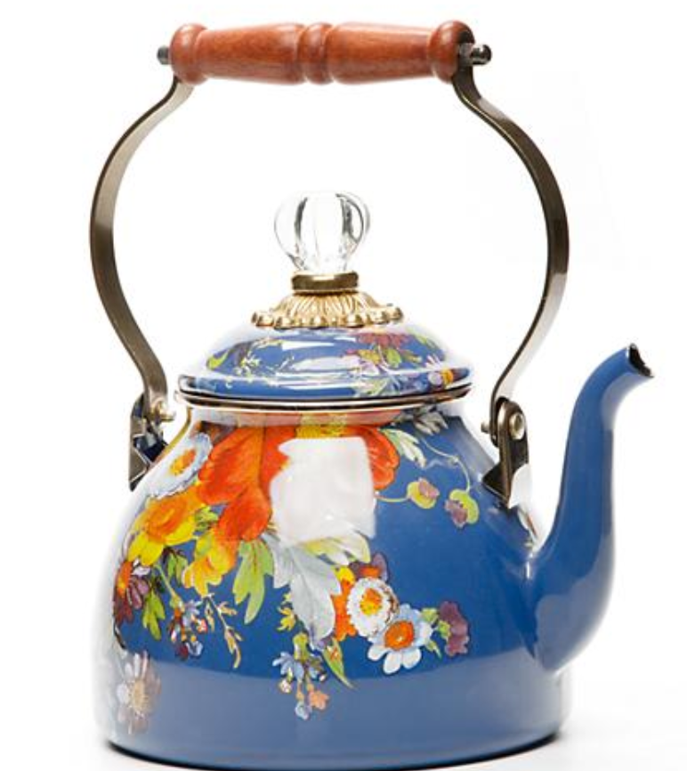 Flower Market Tea Kettle - 2 Qt. (Lapis)