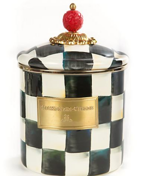 Enamel Canister Small - Courtly Check