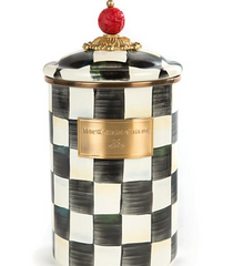 Enamel Canister Large - Courtly Check