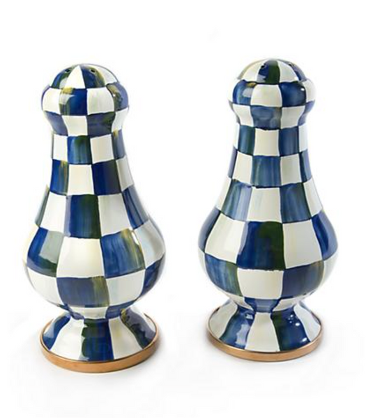 Large Salt+Pepper Shakers - Royal Check