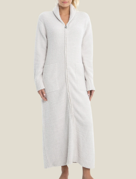 CozyChic Full Zip Robe - Almond