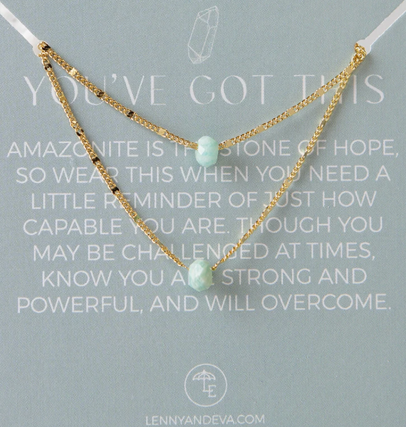 Lily Necklace - Amazonite