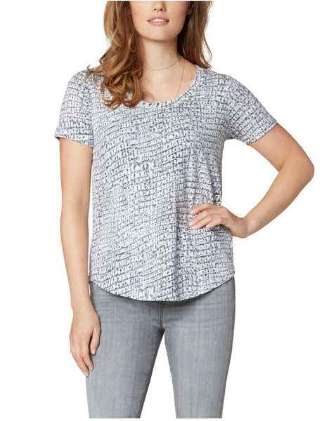 Scoop Neck Top - Silver