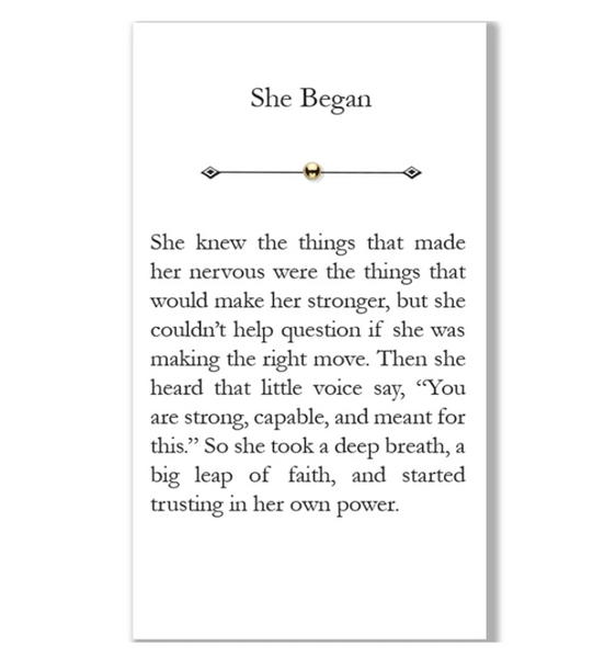 """She Began"" Bead"