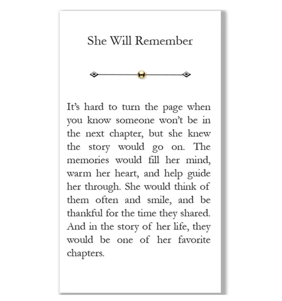 """She Will Remember"" Bead"