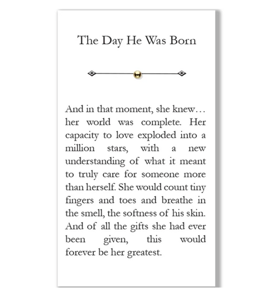 """The Day He Was Born"" Bead"