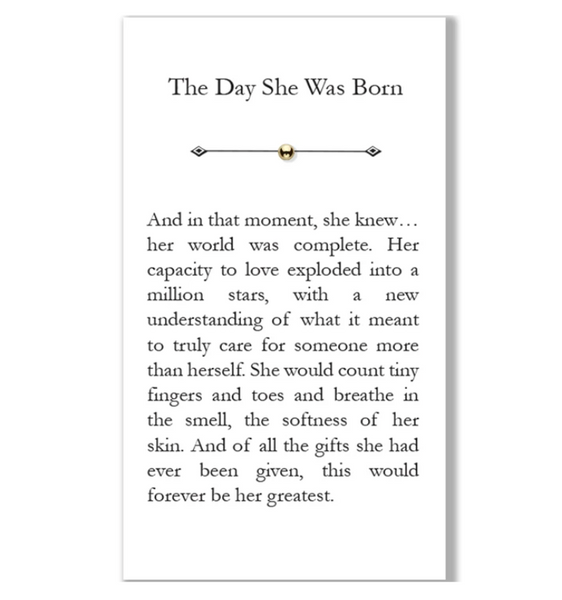 """The Day She Was Born"" Bead"