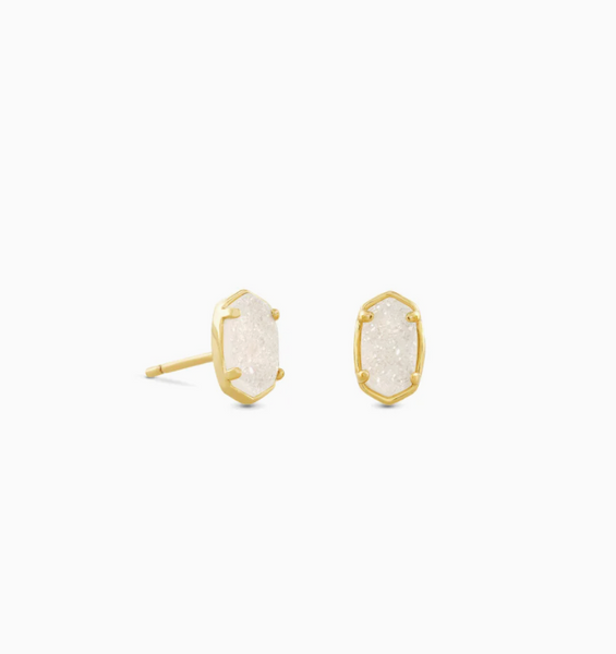 Emilie Stud - Gold Iridescent Drusy