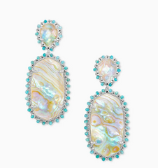 Parson's Earrings - Iridescent Abalone