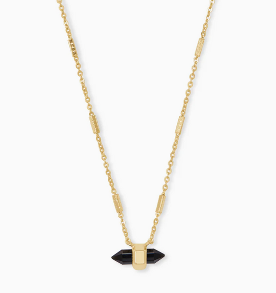 Jamie Necklace - Gold Obsidian
