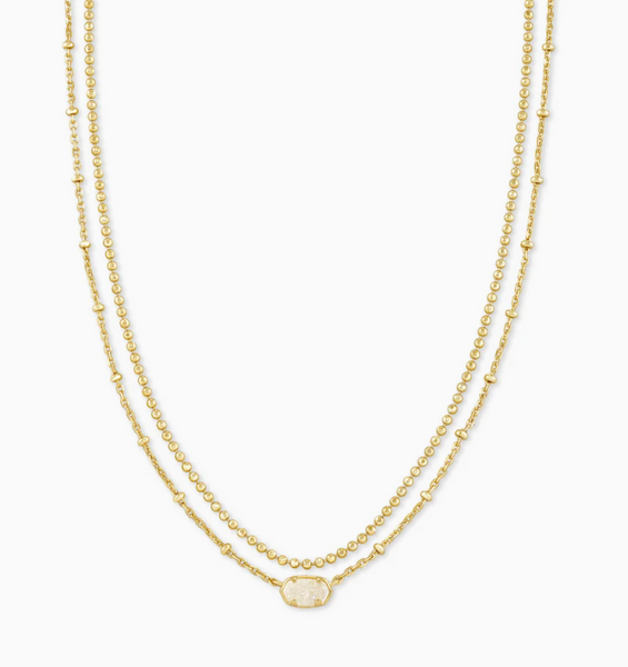 Emilie Multi Strand - Gold Iridescent Drusy
