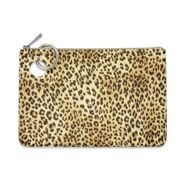 Large Cheetah Silicone Pouch