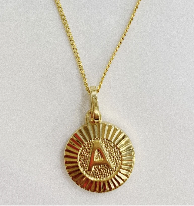 Initial Medallion Necklace