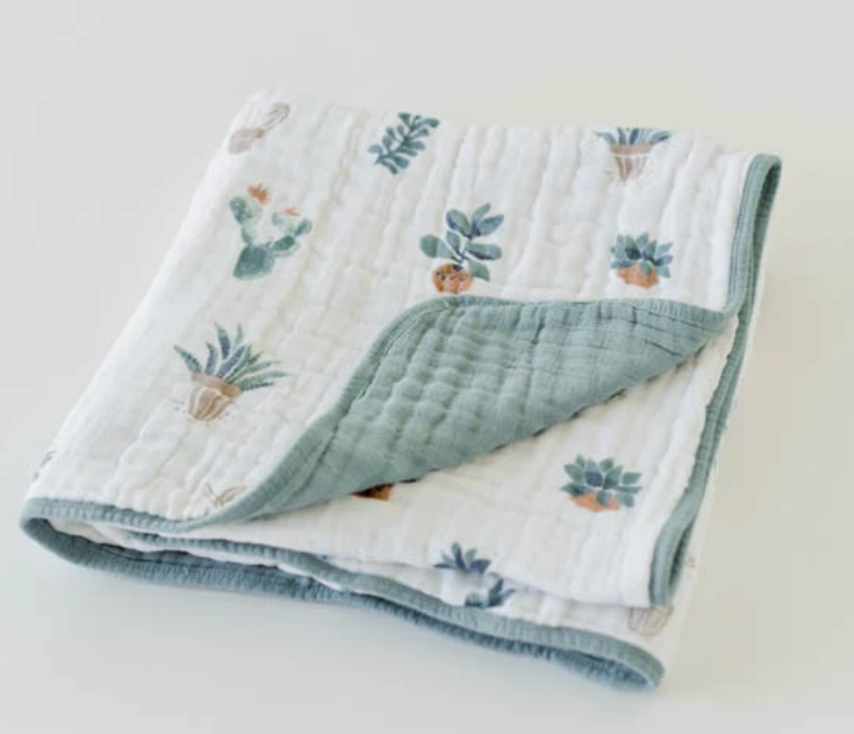Cotton Muslin Quilt - Prickled Pots