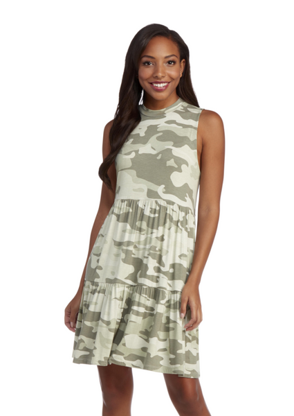 Tully Tiered Dress - Camo