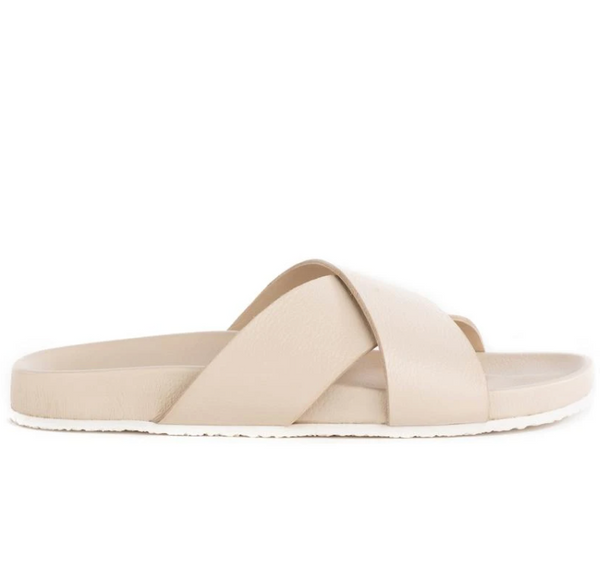 Lighthearted Leather Sandal - Off White