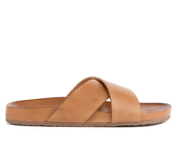 Lighthearted Leather Sandals - Tan