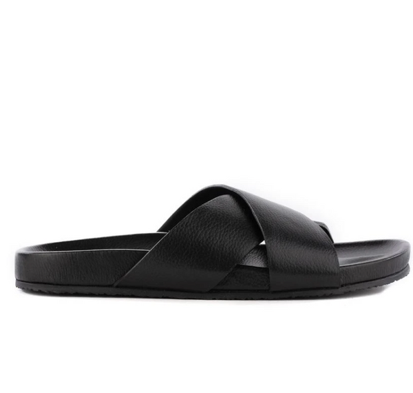 Lighthearted Leather Sandals - Black