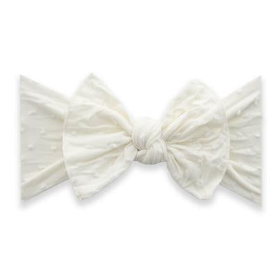 Patterned Shabby Knot (Ivory Dot)