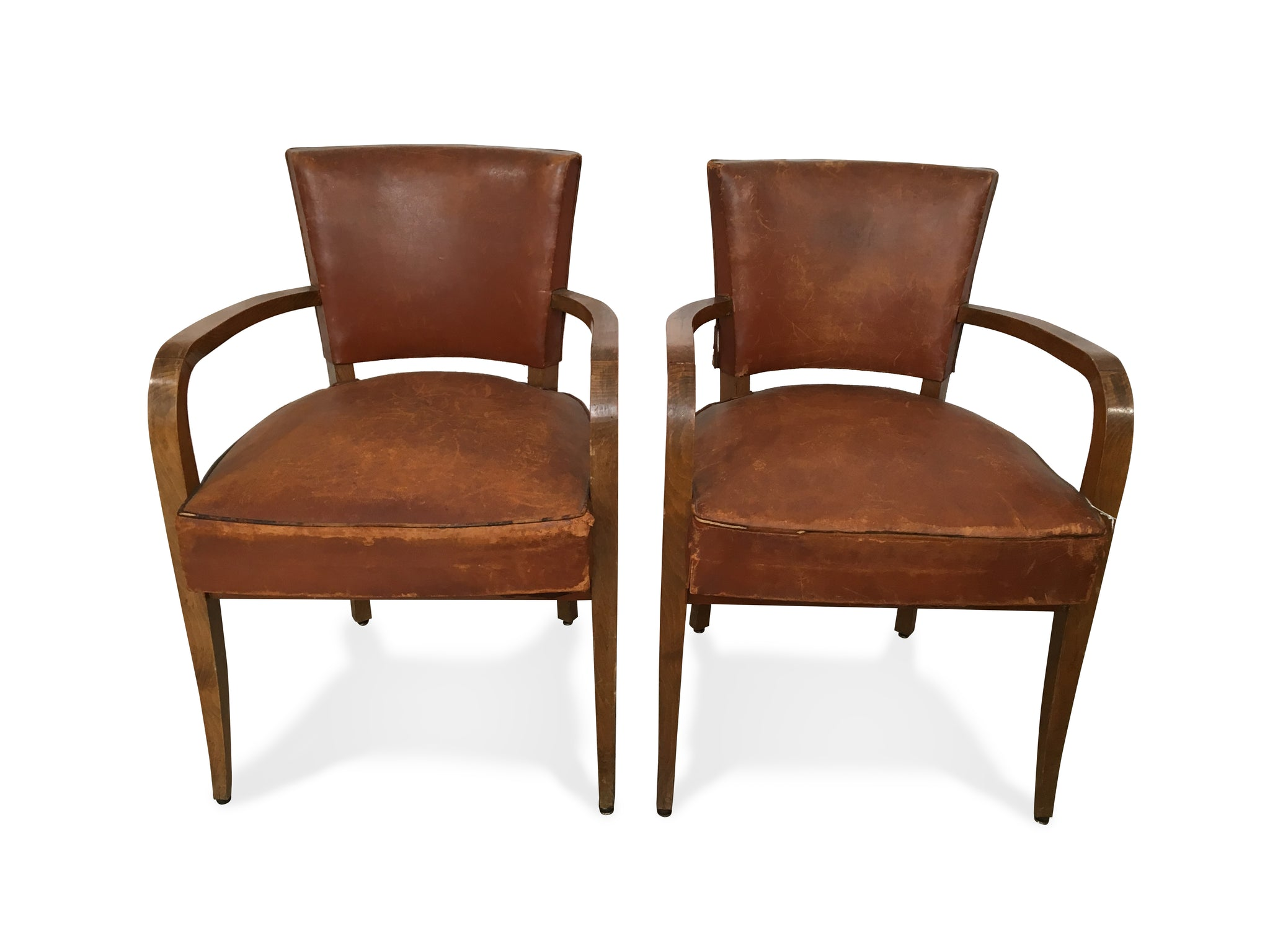 Ordinaire Vintage Leather Armchairs