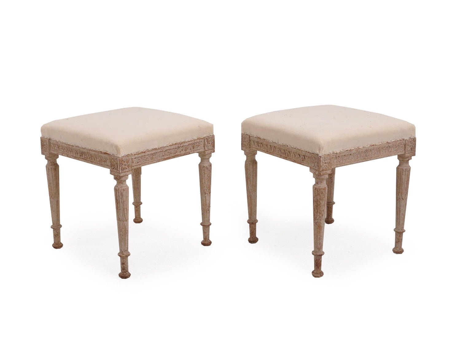 Pair of Late 19th Century Stools