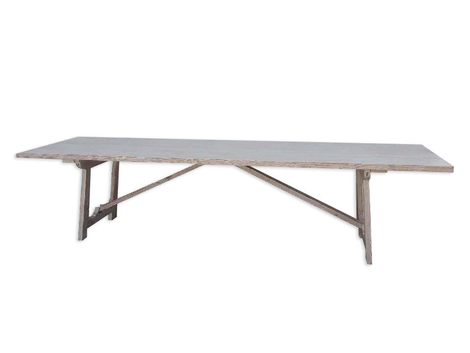 Long Campaign Dining Table