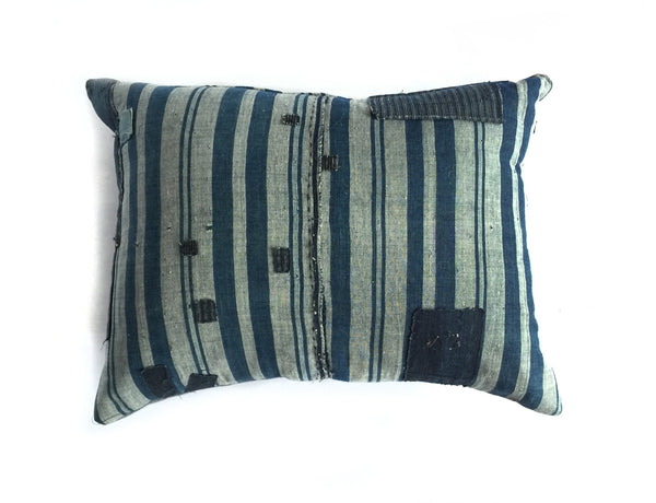 Striped Japanese Boro Pillow