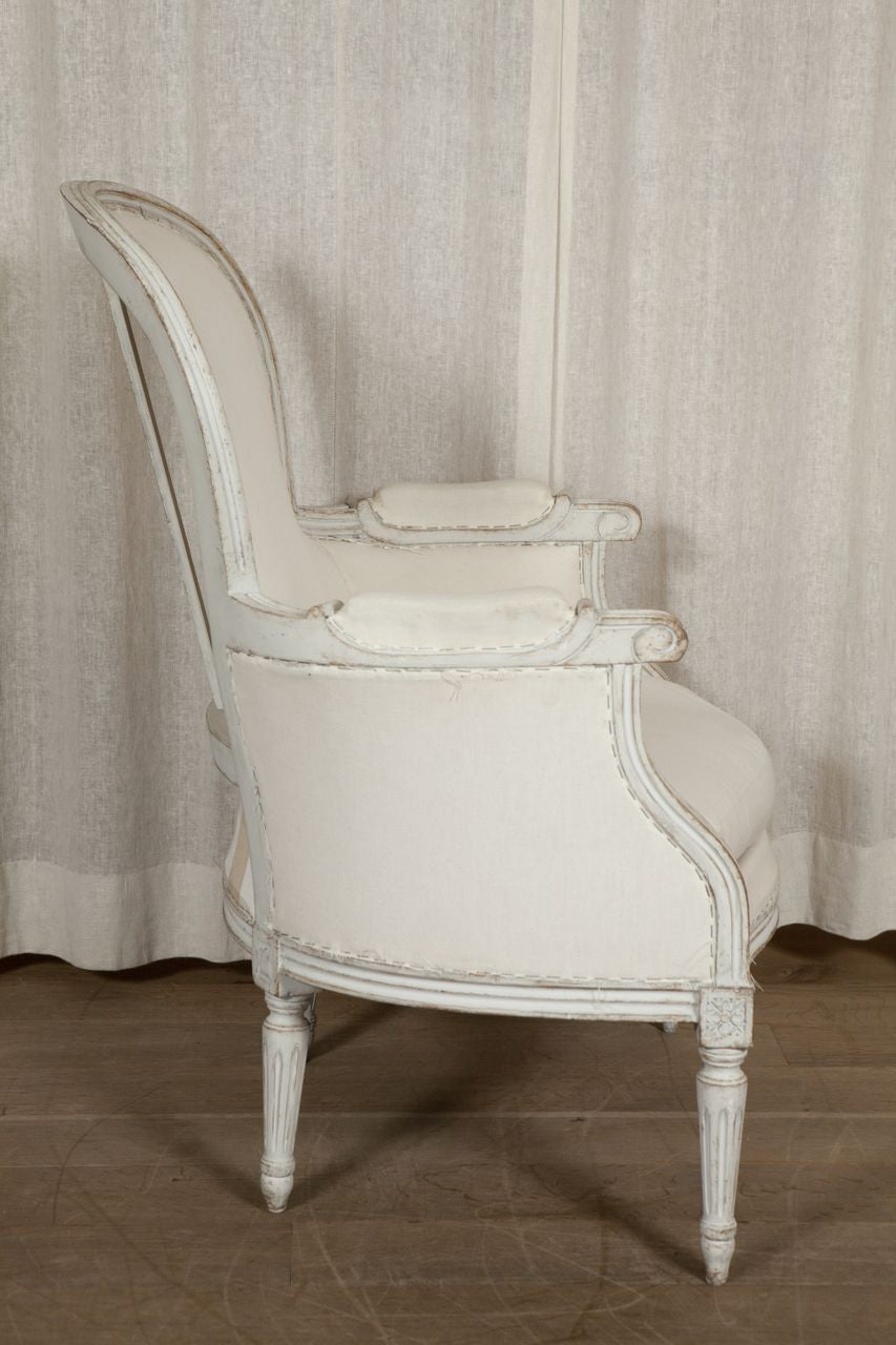 Swedish Bergere Chair 19th Century