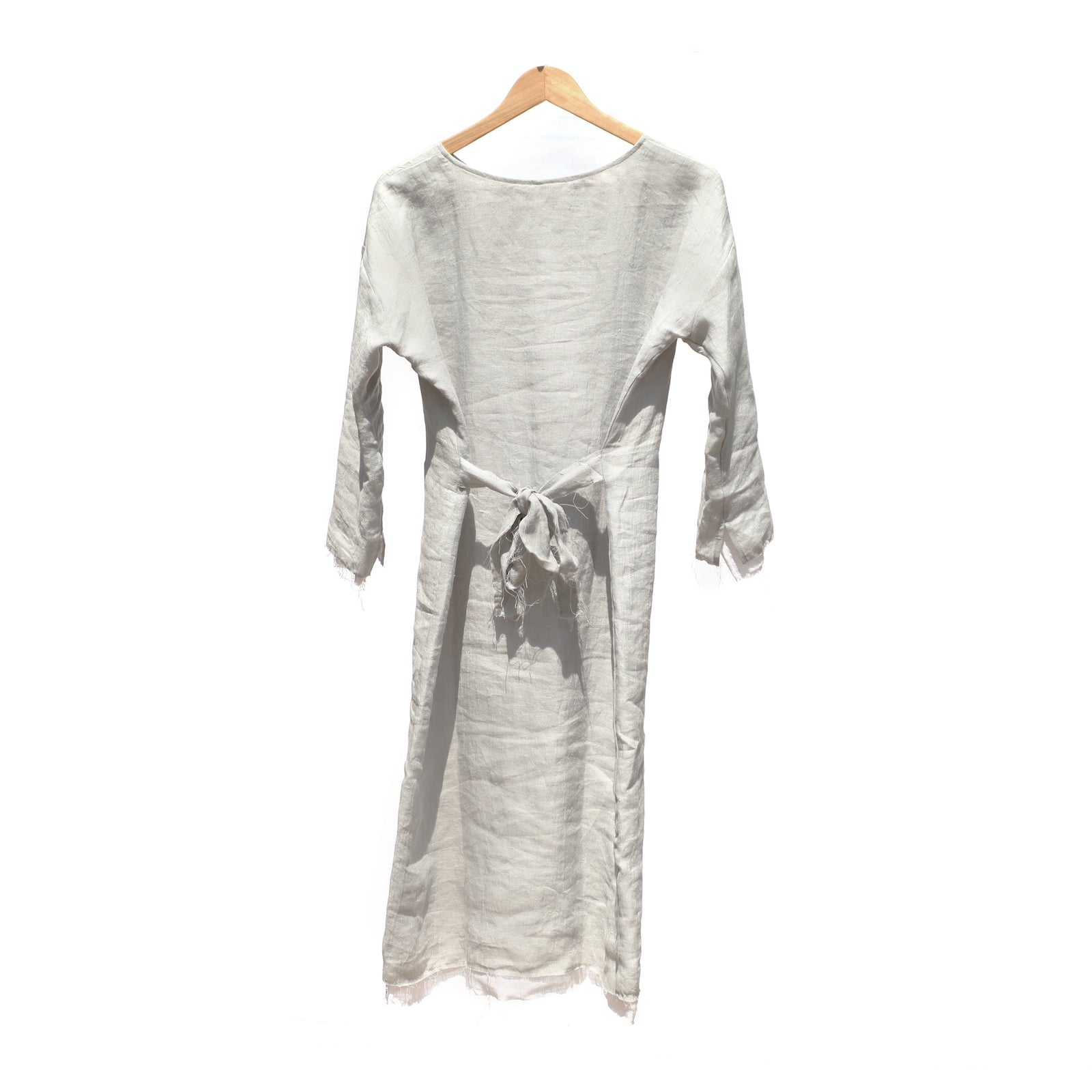 Double Layer Dress - Grey / White