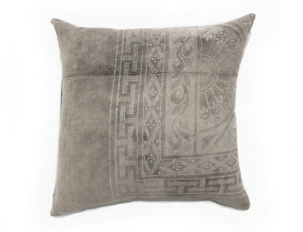 Large Grey Patterned Pillow