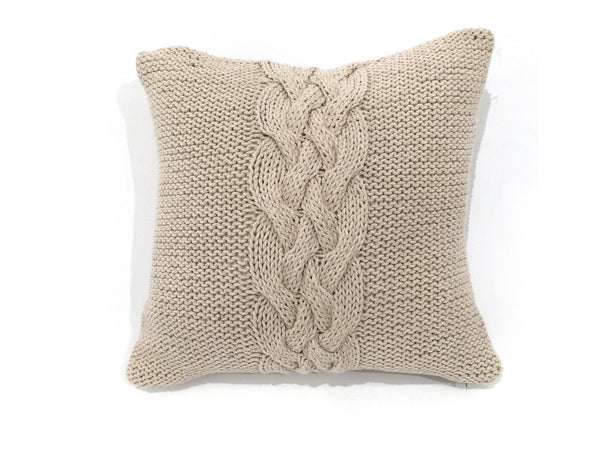 Cable Knit Tan Pillow