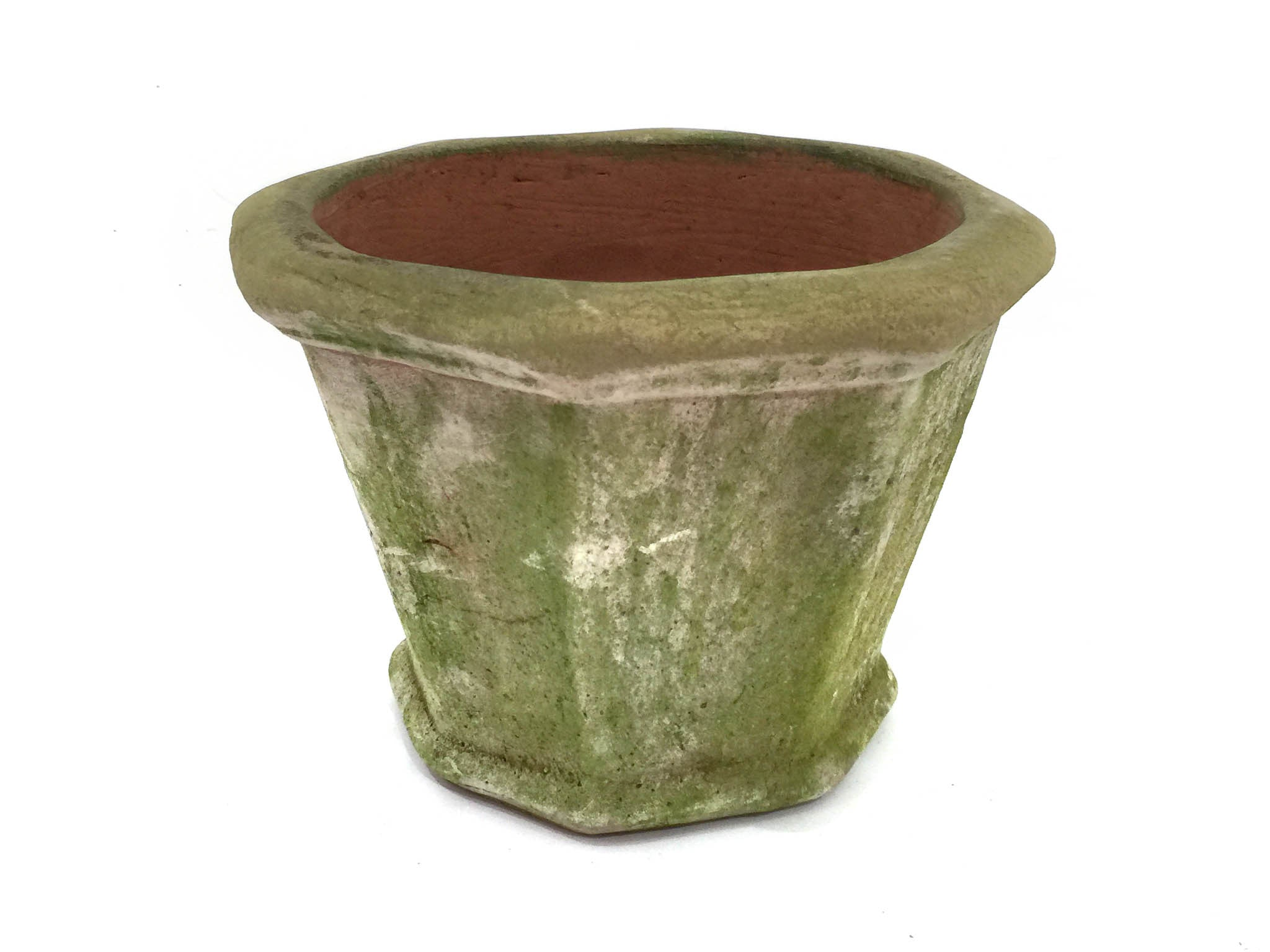 Aged Octagonal Planters - Small Scale - Small