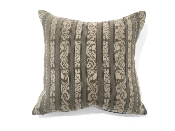 Indonesian Faded Khaki Pillow