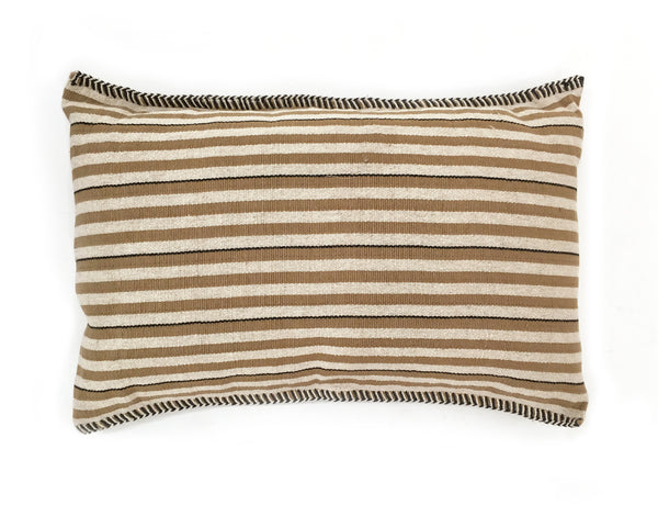 Camel Striped Pillow