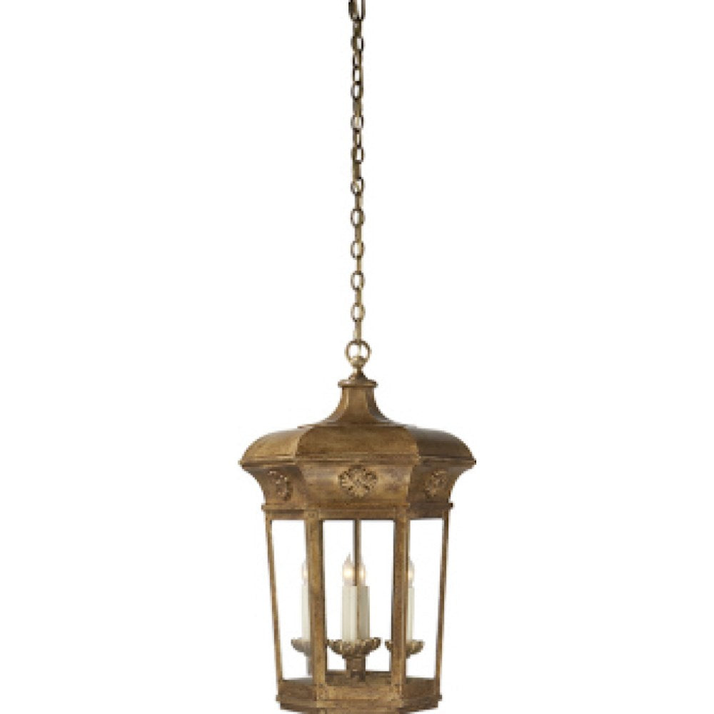 4 Light Gilded Lantern