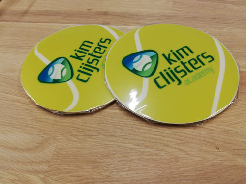 KCA white chocolate tennis ball KCA logo printed design