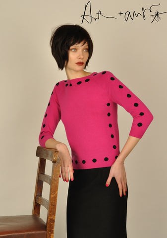 Edge Dots ( Pink ) Knit