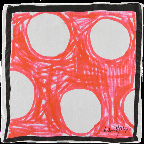 Red Spot Silk Scarf