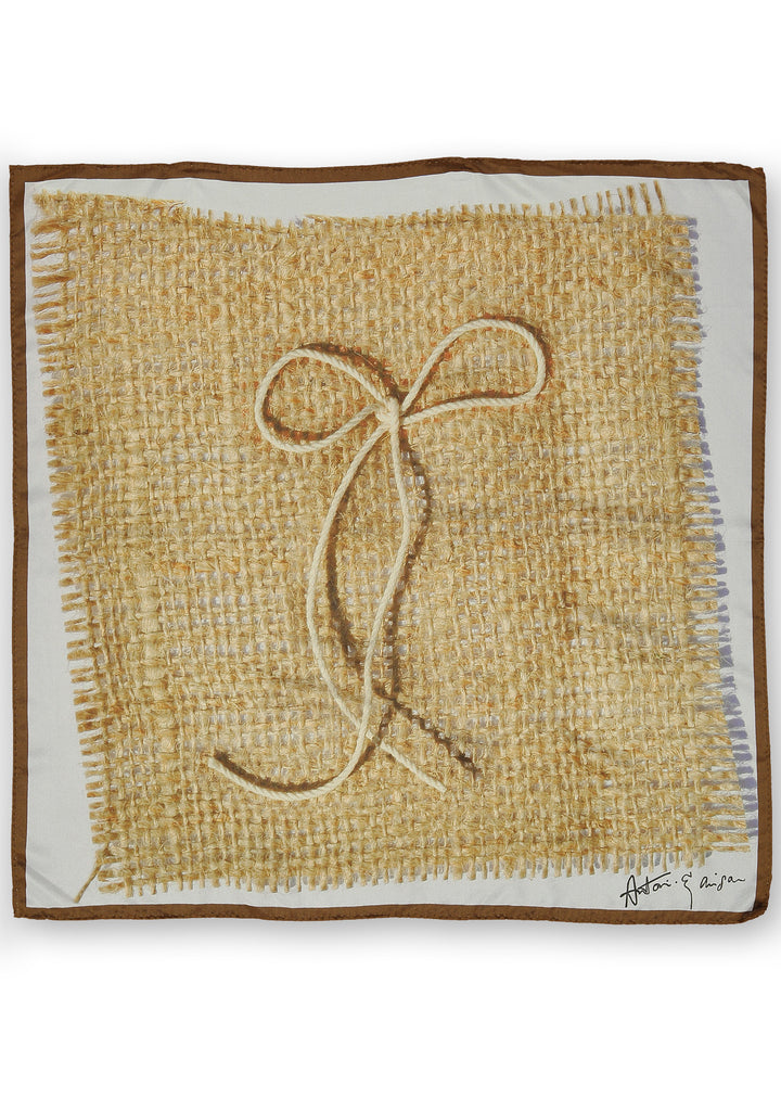 Hessian Bow Scarf