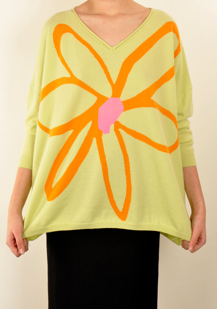 Bright Flower Knit