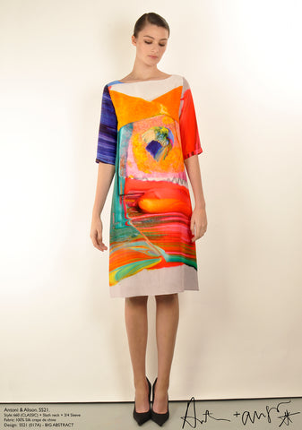 BIG ABSTRACT (classic) Dress