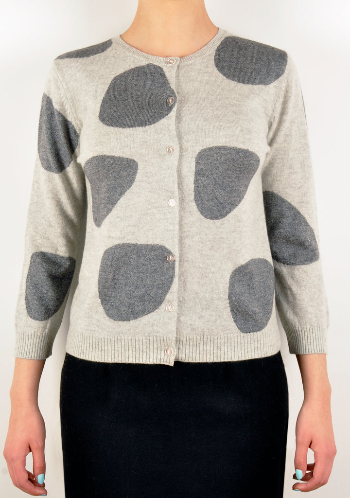 Intelligent Dot Knit Cardigan (A&Archive)