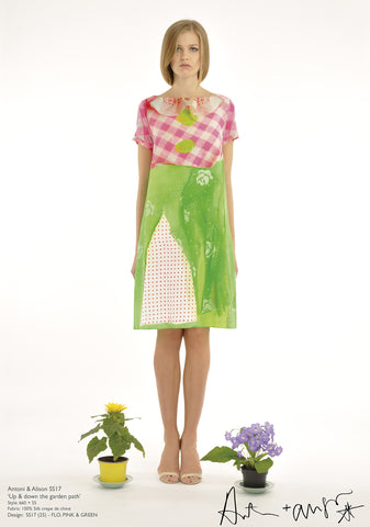 Flo.Pink & Green Dress