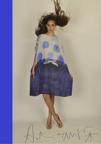 Blue Spot & Weave Dress