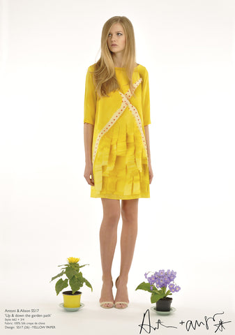 Yellow Paper Dress