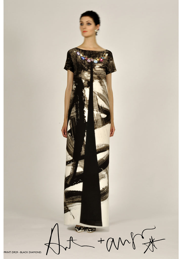Black Diamonds Abstract Dress