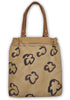 Brown Paper Floral Shopper