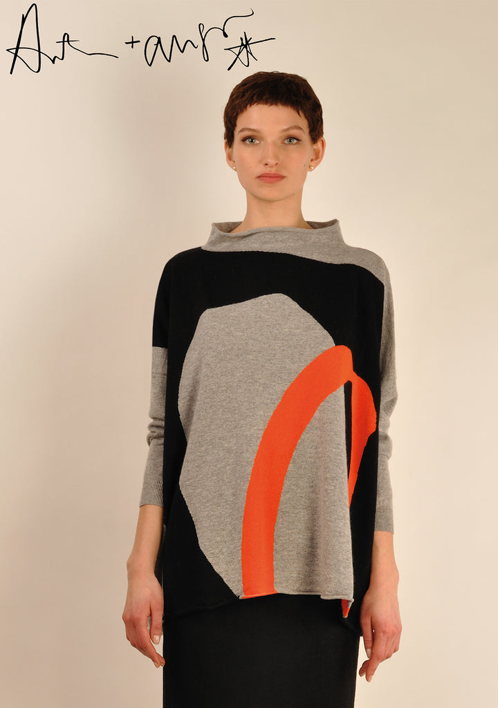 Hole ( grey ) Knit